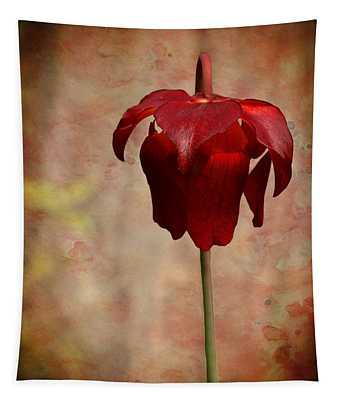 Crimson Pitcher Plant Tapestry