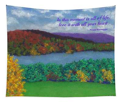 Crisp Kripalu Morning - With Quote Tapestry