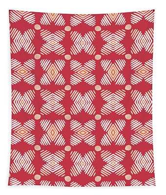 Cross Cross Diamonds Spice- Art By Linda Woods Tapestry