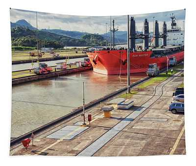 Crossing Panama Canal Tapestry