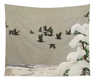 Crows In Winter Tapestry