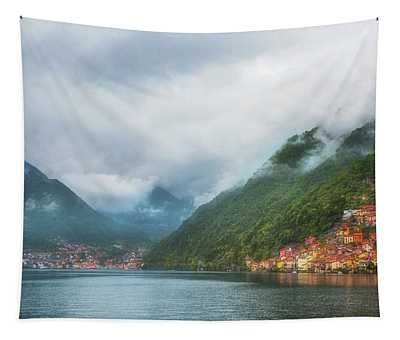 Cruising Lake Como Italy Tapestry