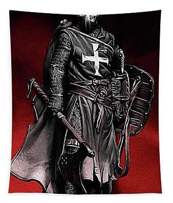 Crusader Warrior - Medieval Warfare Tapestry