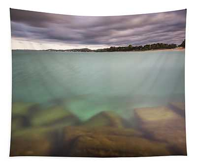 Crystal Clear Lake Michigan Waters Tapestry