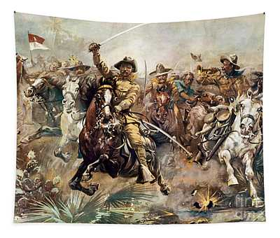 Tapestry featuring the photograph Cuba: Rough Riders, 1898 by Granger