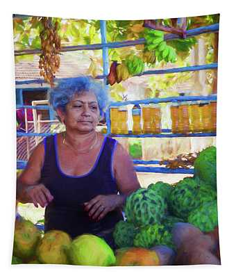 Cuban Fruit Stand II Tapestry