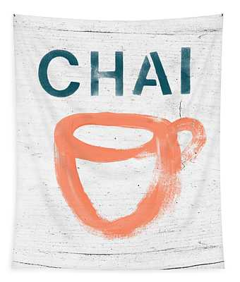 Cup Of Chai- Art By Linda Woods Tapestry