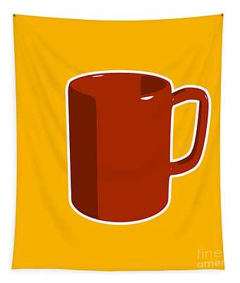 Cup Of Coffee Graphic Image Tapestry