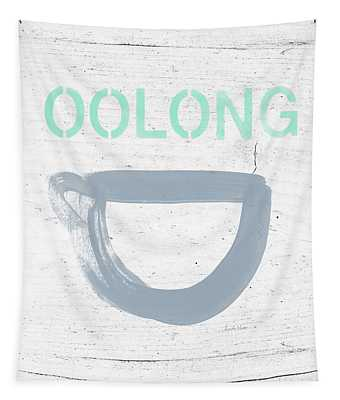 Cup Of Oolong Tea- Art By Linda Woods Tapestry