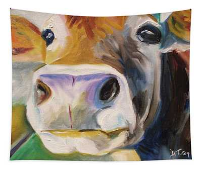 Curious Cow Tapestry