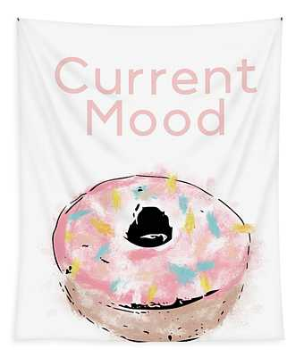 Current Mood Donut- Art By Linda Woods Tapestry