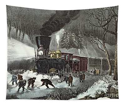 Currier And Ives Tapestry