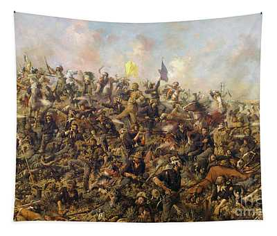 Custer's Last Stand From The Battle Of Little Bighorn Tapestry