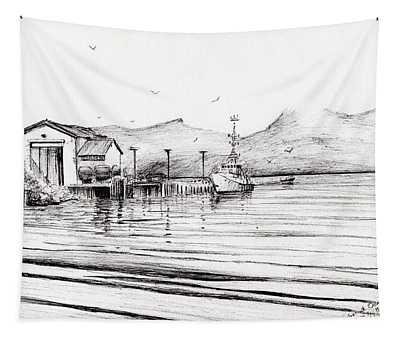 Customs Boat At Oban Tapestry