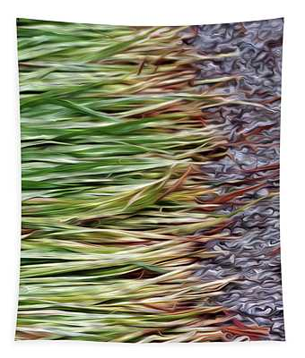 Cut Grass And Pebbles Tapestry