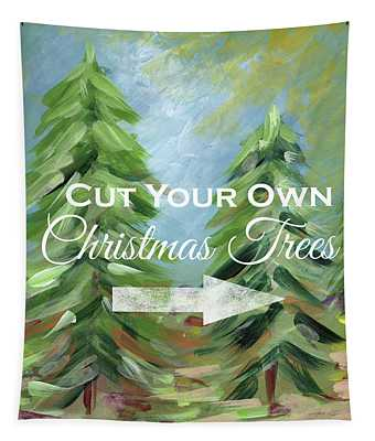 Cut Your Own Tree- Art By Linda Woods Tapestry