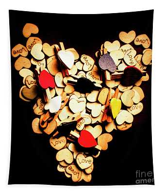 Cute Button Love Tapestry
