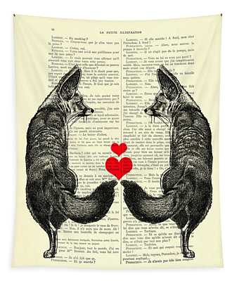 Cute Foxes Tapestry
