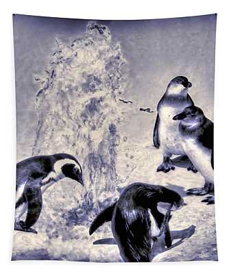 Cute Penguins Tapestry