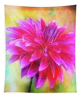 Dahlia Abstract Tapestry