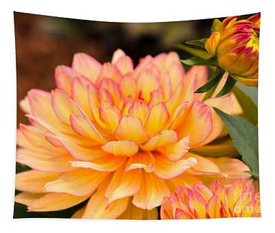 Dahlias In The Garden Tapestry