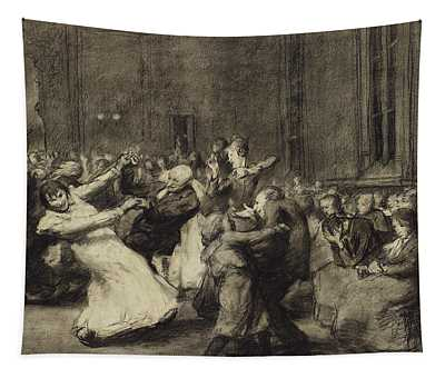 Dance At Insane Asylum Tapestry