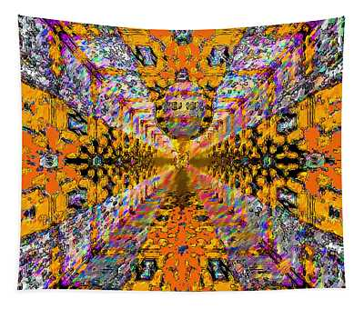 Tapestry featuring the photograph Dance Hall Mirrors No. 1 by Joy McKenzie