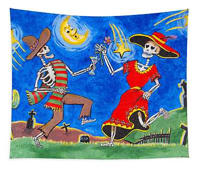 Dance Of The Dead Tapestry