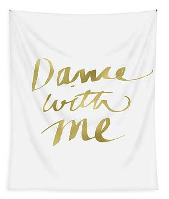 Dance With Me Gold- Art By Linda Woods Tapestry