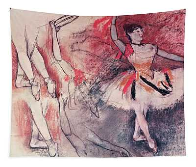 Dancer With Tambourine Or Spanish Dancer Tapestry