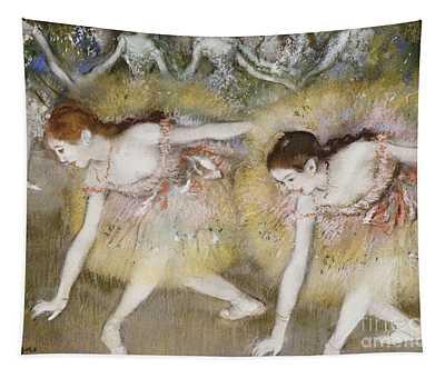 Dancers Bending Down Tapestry