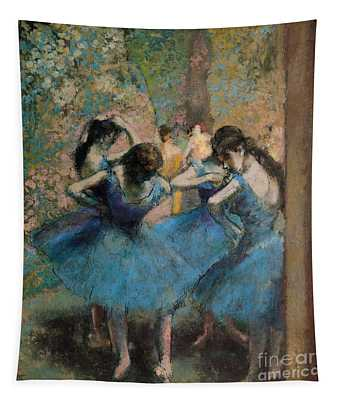 Dancers In Blue Tapestry