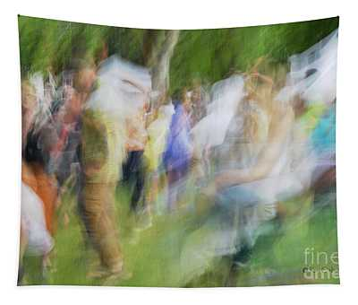 Dancing At The Music Festival Tapestry