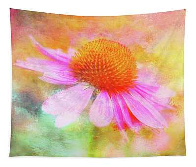 Dancing Coneflower Abstract Tapestry