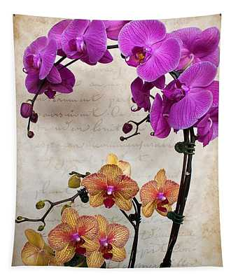 Dancing Orchids Tapestry