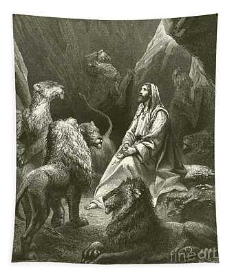 Daniel In The Lions' Den Tapestry