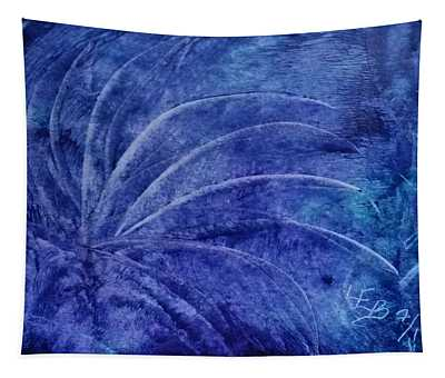 Dark Blue Abstract Tapestry