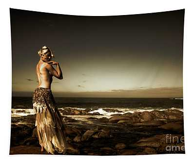 Dark Dramatic Fine Art Beauty Tapestry