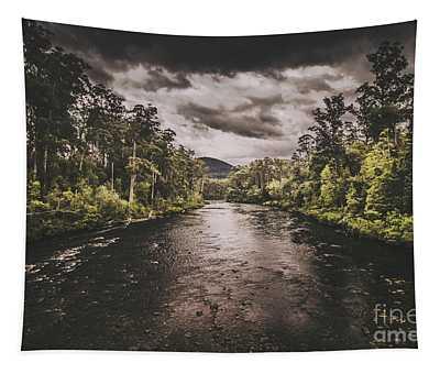Dark River Woods Tapestry