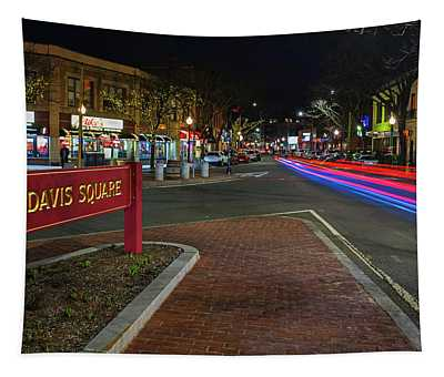 Davis Square Sign Somerville Ma Mikes Tapestry