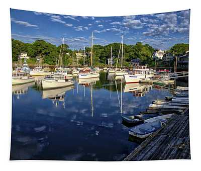 Dawn At Perkins Cove - Maine Tapestry