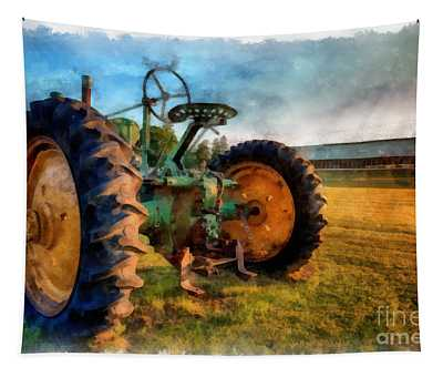 Day Is Done Watercolor Tapestry