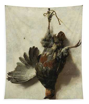 Dead Partridge Hanging From A Nail Tapestry
