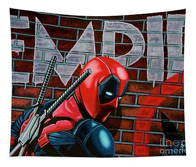Deadpool Painting Tapestry