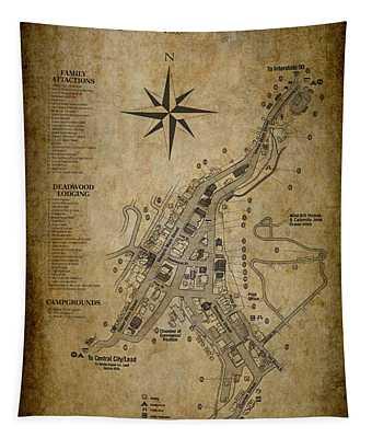 Deadwood South Dakota Map Tapestry