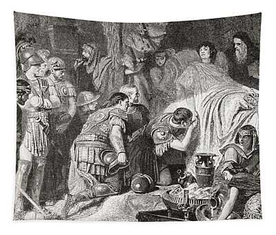 Death Of Alexander The Great At Babylon Tapestry