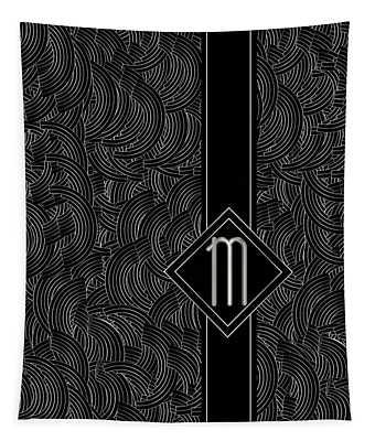 Deco Jazz Swing Monogram ...letter M Tapestry