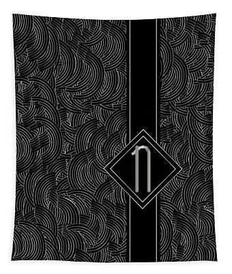 Deco Jazz Swing Monogram ...letter N Tapestry