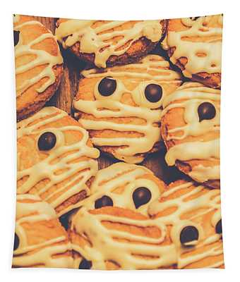 Decorated Shortbread Mummy Cookies Tapestry