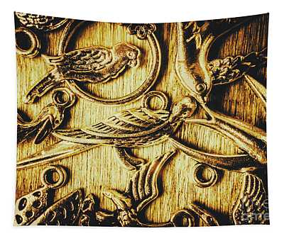 Decorative Bird Charms Tapestry